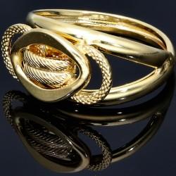 extravaganter Goldring aus 585er 14 Karat Gold für Damen -  Größe 56