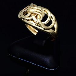 kunstvoller Ring für Damen in 585 14K Gelbgold in Ringgröße ca. 55
