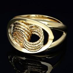 prunkvoller Ring für Damen in hochwertigem 585 14K Gelbgold in Ringgröße ca. 56