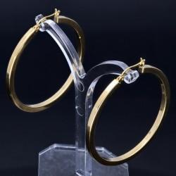 elegante, glänzend polierte Creolen im klassischen Design in 585er 14K Gelbgold