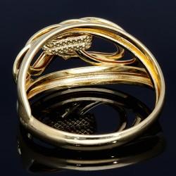 stylischer Damenring mit außergewöhnlichem Design in 14K 585er Gold Ringgröße ca. 57