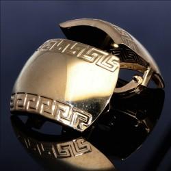 hochwertige Creolen im Greco Design aus 585 14K Gelbgold