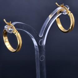 elegante, glänzende Creolen aus 14K 585 Gelbgold