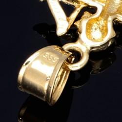 Amor - Engel - Anhänger aus Gold aus 14k (585er) Gelbgold und Weißgold (bicolor)