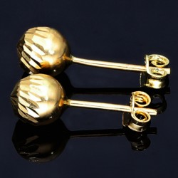 feine Ohrstecker mit filigranem Muster in 585er 14K Gold