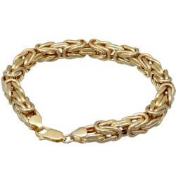 Goldenes Königsarmband (585er 14k), 8mm breit, 23,5m Länge