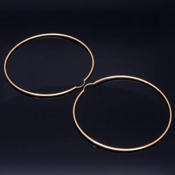 hochwertige XXXL Creolen in klassischem Design in 585er 14K Gelbgold glänzend poliert