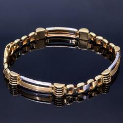 edles Armband aus hochwertigem bicolor 585er Gelb- und Weißgold (ca. 19,5 cm Länge)