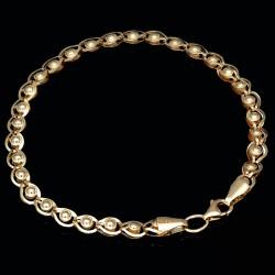 exquisites Armband mit außergewöhnlichem Design aus 585 14K Gold in (ca. 18,0 cm Länge)