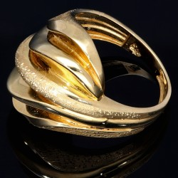 prunkvoller Damenring mit modernem, stilvollen Design in 14K 585er Gold Ringgröße ca. 56
