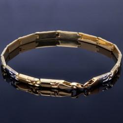 hochwertiges Designer - Armband aus 14K 585er Bicolor Gelb- und Weißgold (ca. 20,8 cm Länge)