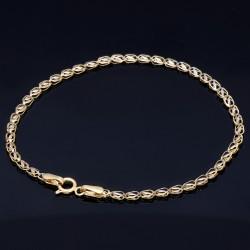 stilvolles Designer - Armband aus 585 14K Gold in (ca. 19,0 cm Länge)