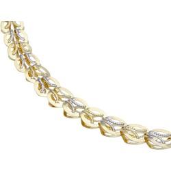 kurze Damen-Designerkette in 585 (14k) Gelbgold und Weißgold ca. 45 cm Länge