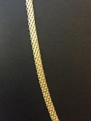Feingliedriges Damencollier aus 585er (14k) Gelbgold in 50 cm Länge