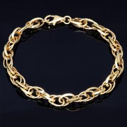 exquisites Designer - Damen - Armband aus 585 14K Gold in (ca. 19,0 cm Länge)