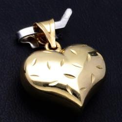 wunderschöner Herz - Anhänger in 585er 14K Gold