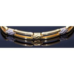 edles Armband in modernem Design aus 14K 585er Bicolor Gelb- und Weißgold (ca. 20,5 cm Länge)