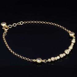 Funkelndes Kugelarmband aus 585 14K Gold in (ca. 20,0 cm Länge)