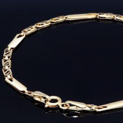 Glänzendes Damen-Armband aus 14k (585er) in 17,3 cm Länge