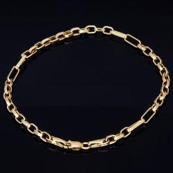 hochwertiges Ankerarmband in 585er 14k Gold, 3,4mm breit, 21cm lang