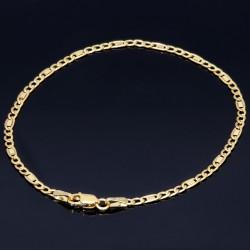 Edles Armband in 585er 14k Gold, 2,5mm breit, 19,5cm lang