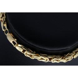 Goldenes Königsarmband (585er 14k), 4mm breit, 22cm lang