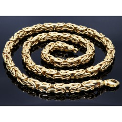 Sonderanfertigung - Königskette aus echtem 585er Gold (14 K)  (ca. 75g, 67 cm, 8mm)