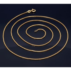 sehr lange Venezianerkette aus 585er Gelbgold (18 Karat) in 75 cm Länge