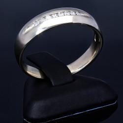 Eleganter Brillantring für Damen - Größe 65 - 66 aus massivem 585 / 14K Weißgold