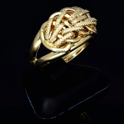 edler, glanzvoller Damen - Ring in wertvollem 585 14K Gelbgold in Ringgröße ca. 56
