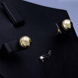 Filigrane Ohrstecker mit filigranem Muster in hochwertigem 585er 14K Gold