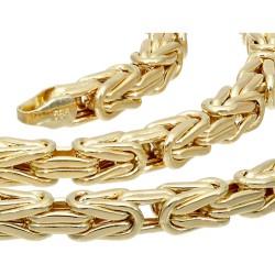 Der Preisbrecher: Königskette aus 585er Gelbgold (14k)- 60cm lang, 4 mm breit, 23,5g